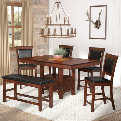 Dor 5 Piece Dining Set Finish: Brown