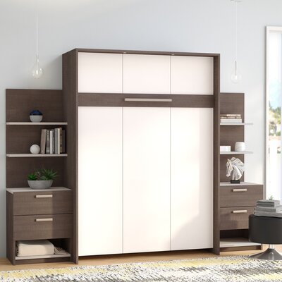 Medan Murphy Bed Finish: Bark Gray, Size: Queen