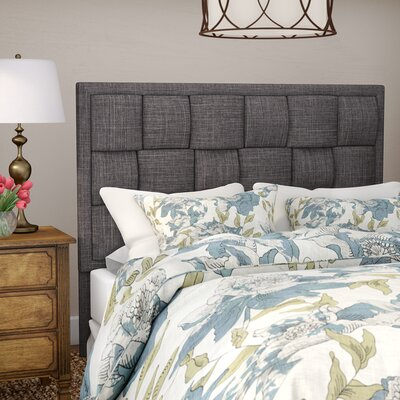 Gina Upholstered Panel Headboard Size: Queen, Color: Dark Gray