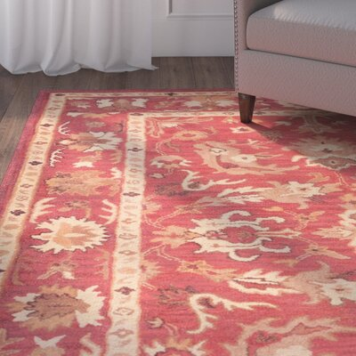 Irwin Konya Red/Beige Area Rug Rug Size: 48 x 76