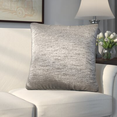 Abshire Throw Pillow Size: 16 H x 16 W x 8 D, Color: Glam Zinc
