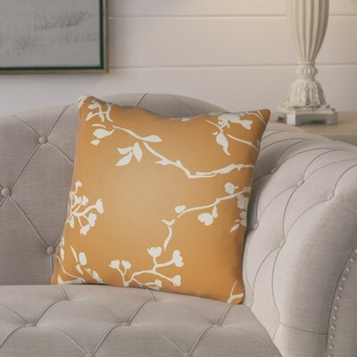 Teena Throw Pillow Size: 18 H x 18 W x 4 D, Color: Orange