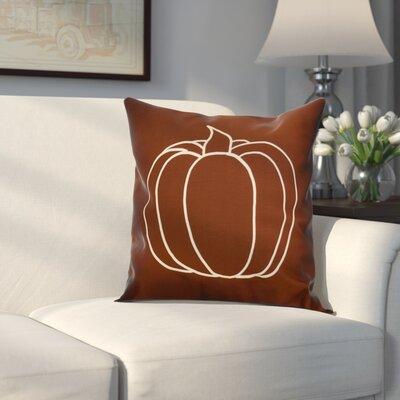 Miller Pumpkin Pie Geometric Throw Pillow Size: 18