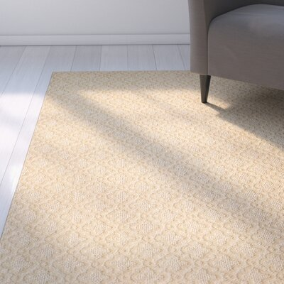 Bettie Hand-Tufted Tan Area Rug Rug Size: 9 x 12