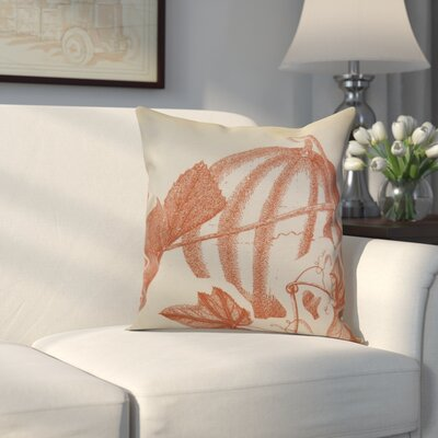 Miller Stagecoach Floral Outdoor Throw Pillow Size: 18 H x 18 W x 2 D, Color: Rust