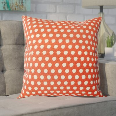 Madyson Outdoor Throw Pillow Color: Red