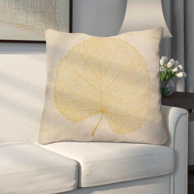 Miller Leaf Study Floral Euro Pillow Color: Gold