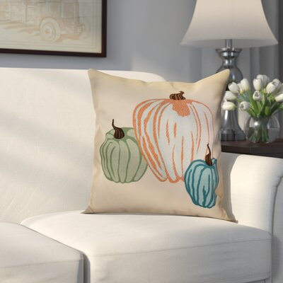 Miller Pumpkin Spice Geometric Outdoor Throw Pillow Size: 20 H x 20 W x 2 D, Color: Cream