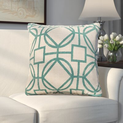 Applewood Throw Pillow Size: 26 X 26, Color: Nolo Turquoise