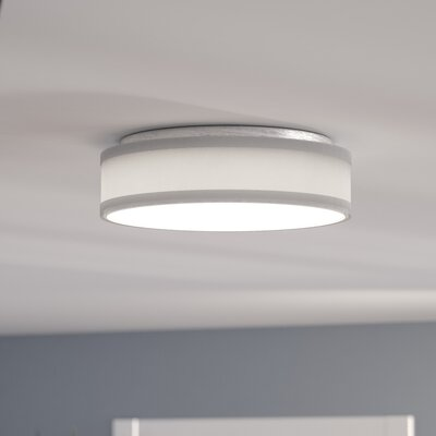 Benning 1-Light Flush Mount Finish: Brushed Nickel