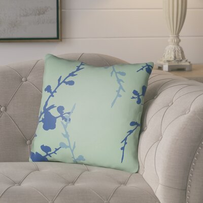 Teena Throw Pillow Size: 20 H x 20 W x 4 D, Color: Mint/Blue