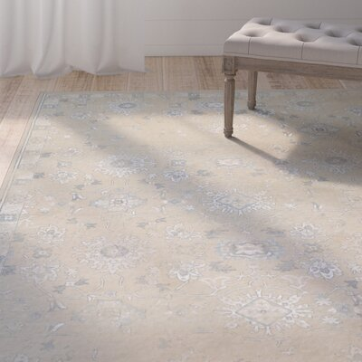 Nicolas Beige Area Rug Rug Size: Rectangle 92 x 125