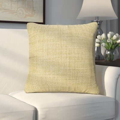 Abraham Texture Coco Soft Burlap Throw Pillow Size: 16 H x 16 W, Color: Peridot