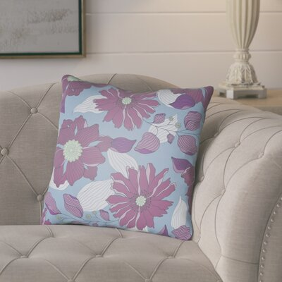 Lyda Flower Throw Pillow Size: 18 H x 18 W x 4 D, Color: Purple