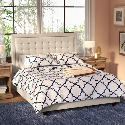 Hugh Low Profile Platform Bed Size: Queen, Color: Beige