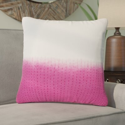 Jermaine Tribal Pattern Cotton Throw Pillow Color: Pink