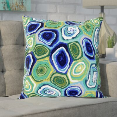Tengan Murano Swirl Throw Pillow Color: Green