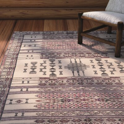 Pitts Hand-Woven Bright Purple/Rose Area Rug Rug Size: 2 x 3
