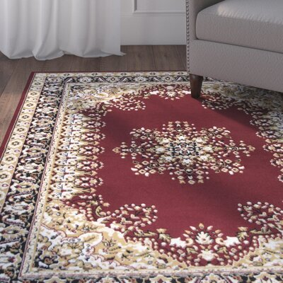 Burley Red Area Rug Rug Size: 8 x 10
