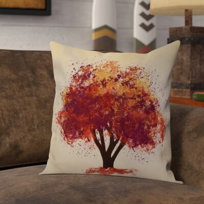 Brookfield Bounty Floral Throw Pillow Size: 18 H x 18 W x 2 D, Color: Purple