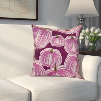Miller Pumpkins-A-Plenty Geometric Outdoor Throw Pillow Size: 18 H x 18 W x 2 D, Color: Purple