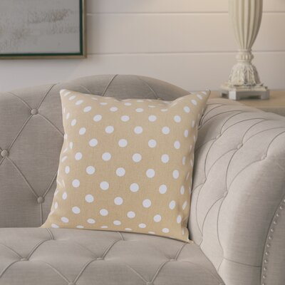 Rebeterano Cotton Pillow Cover Color: Latte