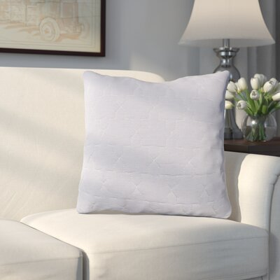 Russell Throw Pillow Size: 18 H x 18 W x 4 D, Color: Medium Gray / Silver