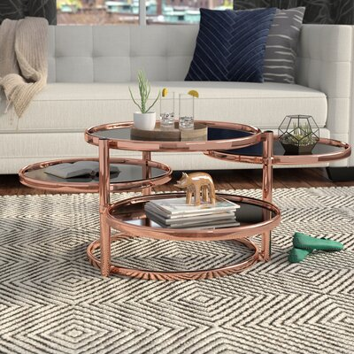 Benford Coffee Table Color: Rose Gold