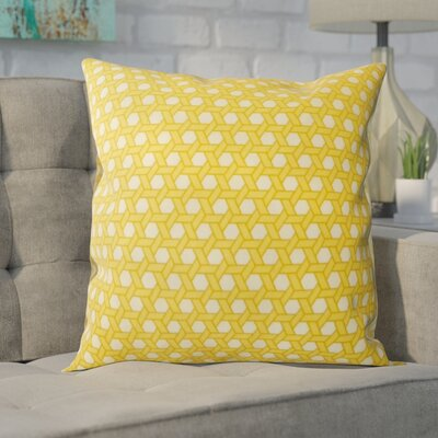 Madyson Outdoor Throw Pillow Color: Yellow