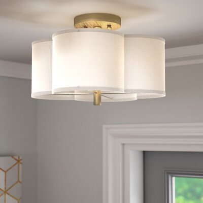 Harriett Scalloped Semi Flush Mount Size: 7.25 H x 18 W
