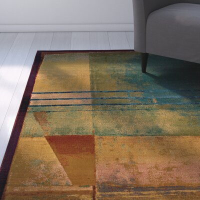 Albro Red/Green Area Rug Rug Size: 26 x 91