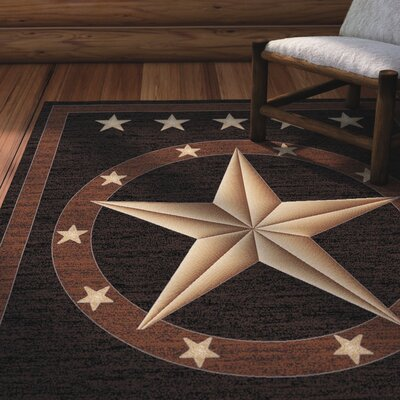 Durango Western Star Brown Area Rug Rug Size: 5 x 8
