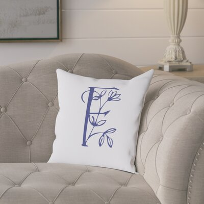 Attina Personalized Floral Initial Throw Pillow Letter: F