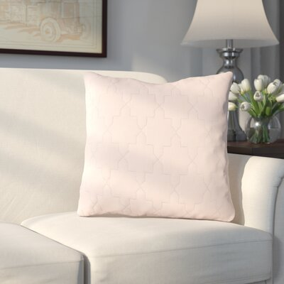 Russell Throw Pillow Size: 18 H x 18 W x 4 D, Color: Peach / Silver