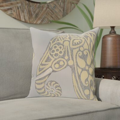 Essehoul Print Throw Pillow Size: 26 H x 26 W, Color: Gold