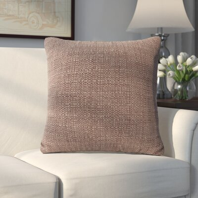 Abraham Texture Coco Soft Burlap Throw Pillow Size: 16 H x 16 W, Color: Slate