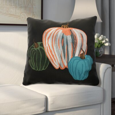 Miller Pumpkin Spice Geometric Euro Pillow Color: Black