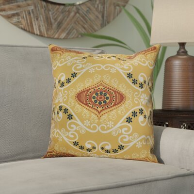 Soluri Illuminate Geometric Throw Pillow Size: 18 H x 18 W x 2 D, Color: Gold