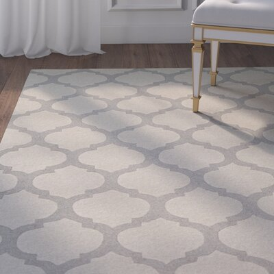 Marla Hand-Woven Beige Area Rug Rug Size: Rectangle 36 x 56
