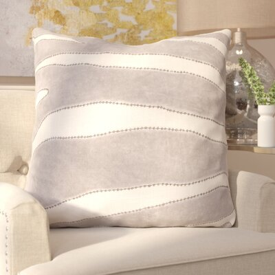 Laila Animal Print Cotton Throw Pillow Color: Gray