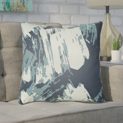 Konnor Throw Pillow Size: 18 H x 18 W x 4 D, Color: Blue