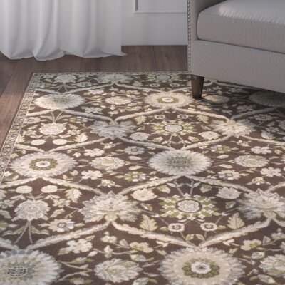 Angelita Brown Area Rug Rug Size: Rectangle 4 x 6