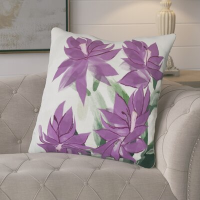 Amanda Christmas Cactus Floral Print Euro Pillow Color: Purple