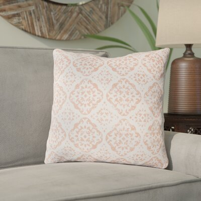 Kody Throw Pillow Size: 18 H x 18 W x 4 D, Color: Blush / Bright Pink