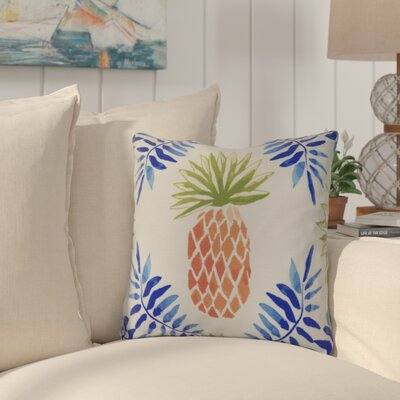 Thirlby Outdoor Throw Pillow Size: 20 H x 20 W x 3 D, Color: Blue