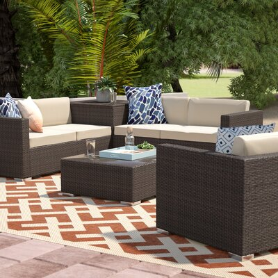 Benbow 7 Piece Outdoor Sectional Seating Group Set