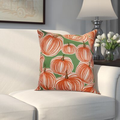 Miller Pumpkins-A-Plenty Geometric Throw Pillow Size: 20 H x 20 W x 2 D, Color: Green