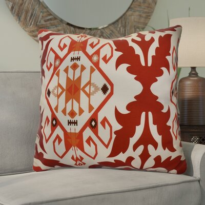 Soluri 6 Geometric Euro Pillow Color: Orange / Rust