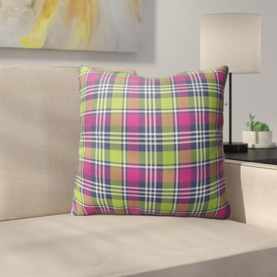 Zoelle Plaid Indoor/Outdoor Throw Pillow Size: 26 H x 26 W x 4 D