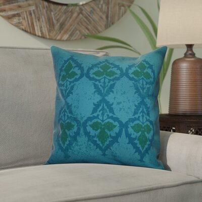 Soluri Geometric Outdoor Throw Pillow Size: 18 H x 18 W x 2 D, Color: Blue